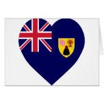 Corazón de la bandera de Turks and Caicos Islands Tarjetón