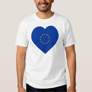 Corazón de la bandera de unión europea playera