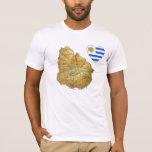 Corazón de la bandera de Uruguay y camiseta del