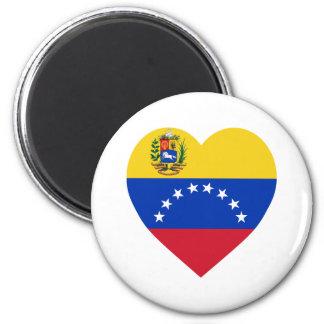 Corazón de la bandera de Venezuela Imán Redondo 5 Cm