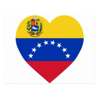 Corazón de la bandera de Venezuela Tarjetas Postales