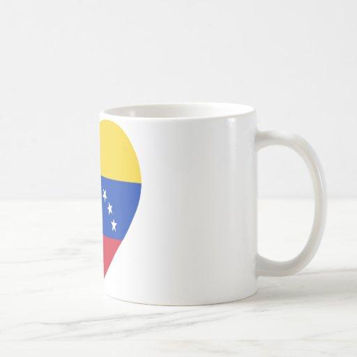 Corazón de la bandera de Venezuela Taza