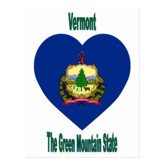 Corazón de la bandera de Vermont Tarjetas Postales