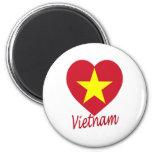 Corazón de la bandera de Vietnam (norte) Iman De Nevera