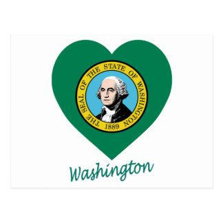 Corazón de la bandera de Washington Postal