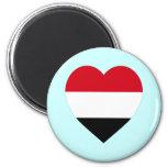Corazón de la bandera de Yemen Imán De Frigorífico