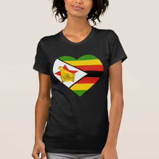 Corazón de la bandera de Zimbabwe Playera