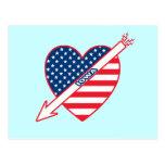 Corazón de la bandera del patriota de Iowa Postal