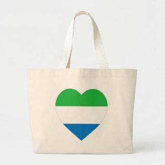Corazón de la bandera del Sierra Leone Bolsa De Mano