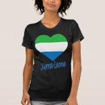 Corazón de la bandera del Sierra Leone Camiseta