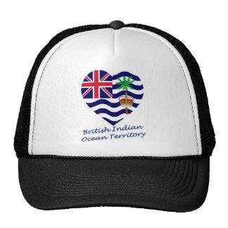 Corazón de la bandera del territorio del Océano Ín Gorro