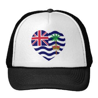Corazón de la bandera del territorio del Océano Ín Gorra