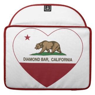 corazón de la barra del diamante de la bandera de funda para macbook pro