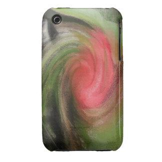 corazón de la caja color de rosa de IPhone Carcasa Para iPhone 3