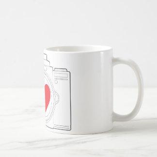 Corazón de la cámara taza de café