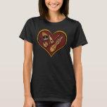 Corazón de la camiseta de la música