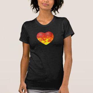 CORAZÓN de la camiseta del FUEGO