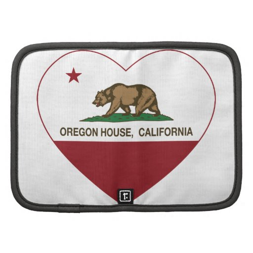 corazón de la casa de Oregon de la bandera de Cali Organizadores
