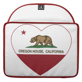 corazón de la casa de Oregon de la bandera de Cali Fundas Para Macbook Pro