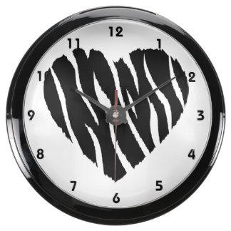 Corazón de la cebra reloj aquavista