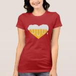 Corazón de la cerveza camiseta