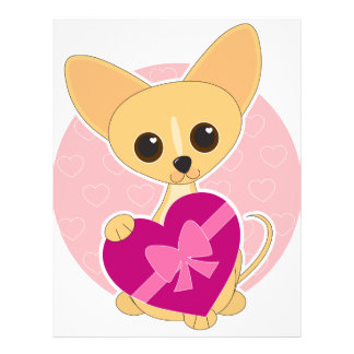 """Corazón de la chihuahua folleto 8.5"""" x 11"""""""