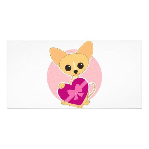 Corazón de la chihuahua tarjetas personales