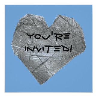 """Corazón de la cinta aislante invitación 5.25"""" x 5.25"""""""