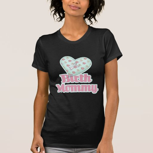 Corazón de la cinta del rosa de la mamá del camiseta
