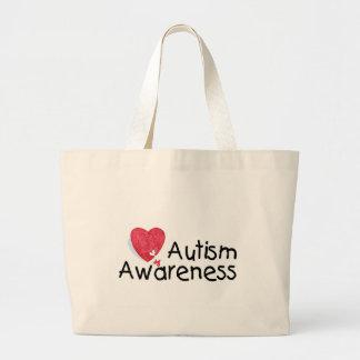 Corazón de la conciencia del autismo bolsa