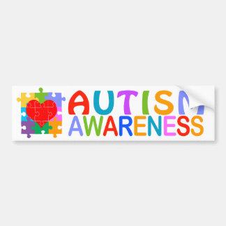 Corazón de la conciencia del autismo pegatina para auto