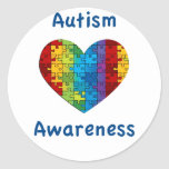 Corazón de la conciencia del autismo pegatinas