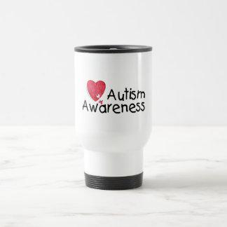 Corazón de la conciencia del autismo tazas de café