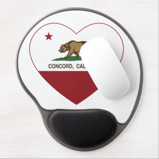 corazón de la concordia de la bandera de Californi Alfombrillas De Raton Con Gel