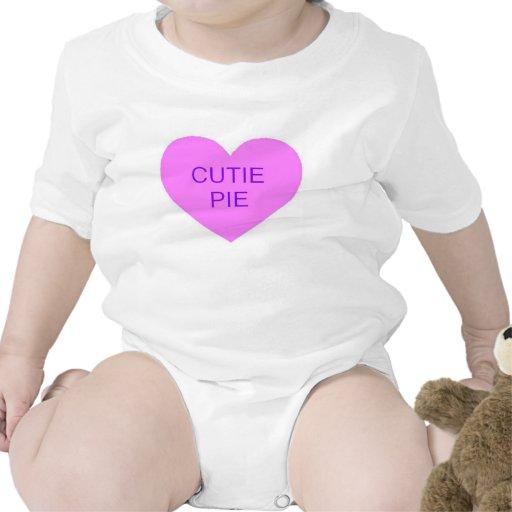 Corazón de la conversación de la empanada de Cutie Trajes De Bebé