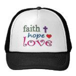 Corazón de la cruz del amor de la esperanza de la gorro