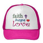 Corazón de la cruz del amor de la esperanza de la gorra