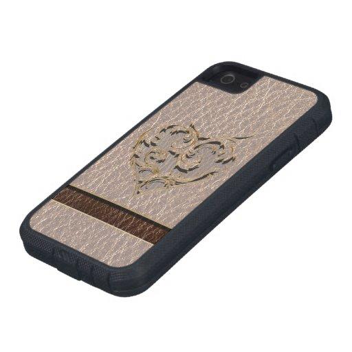 Corazón de la Cuero-Mirada suave Funda Para iPhone SE/5/5s