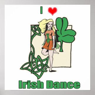 Corazón de la danza del irlandés póster