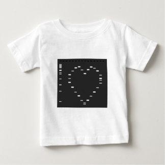 Corazón de la DNA en el gel de la agarosa T Shirt
