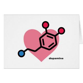 corazón de la dopamina tarjeta de felicitación