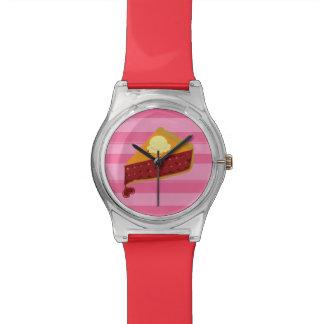 Corazón de la empanada de la cereza relojes de mano