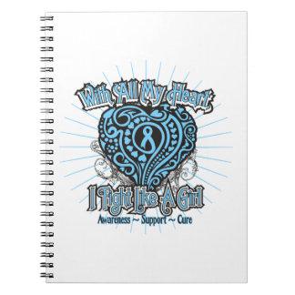 Corazón de la enfermedad de tiroides que lucho com libretas
