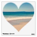 Corazón de la escena de la playa de la aguamarina vinilo
