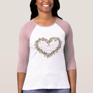 Corazón de la esperanza - las señoras cupieron el  camiseta