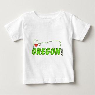 Corazón de la etiqueta de Oregon Playera