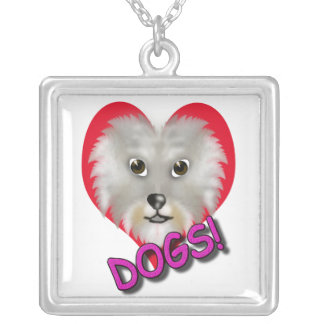 corazón de la fan del perro collar