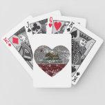 corazón de la fibra de carbono de la república de  cartas de juego