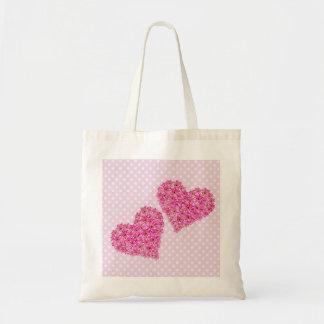 Corazón de la flor bolsa tela barata