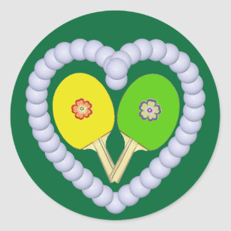 Corazón de la flor del ping-pong de YG Etiqueta Redonda